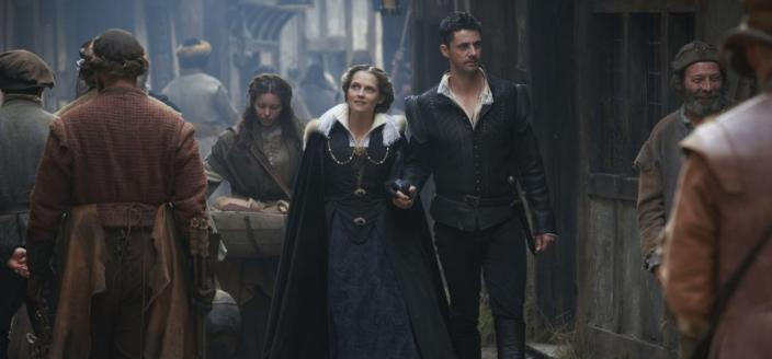 Teresa Palmer as Diana Bishop, Matthew Goode as Matthew Clairmont in A Discovery of Witches