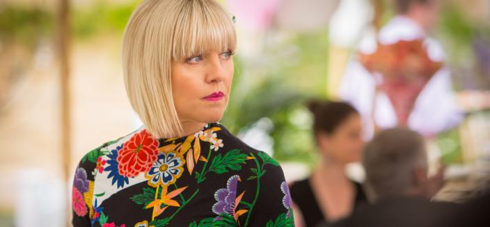 "Ashley Jensen in ""Agatha Raisin and The Deadly Dance"" (Photo: Acorn TV)"