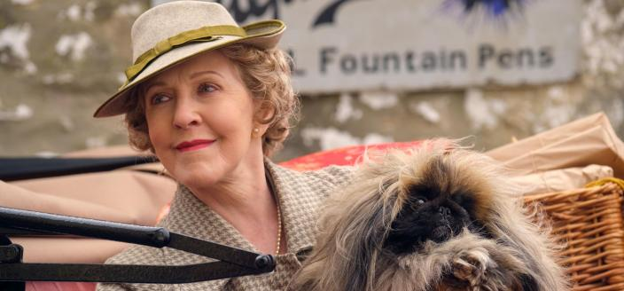 Patricia Hodge as the new Mrs. Pumphrey in 'All Creatures Great & Small' Season 2