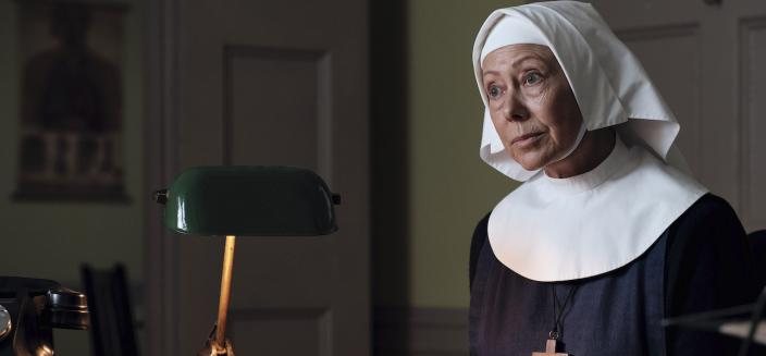 Sister Julienne (Jenny Agutter) makes plans to save Nonnatus House   Credit: Courtesy of BBC / Neal Street Productions