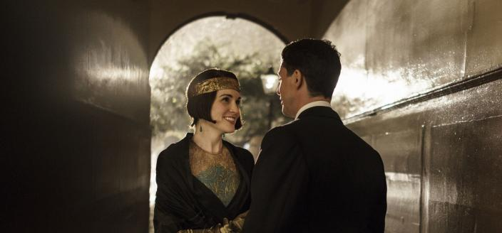 So Lady Mary and Henry Talbot are kind of adorable together, yeah? (Photo: Courtesy of Nick Briggs/Carnival Film & Television Limited 2015 for MASTERPIECE)