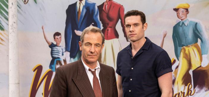 Robson Green and Tom Brittney as Rev. Will Davenport and DI Geordi Keating in 'Grantchester'