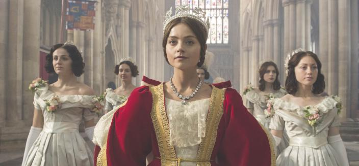 "The clothes are clearly going to be a major star of ""Victoria"". (Photo: Courtesy of ITV Plc for MASTERPIECE)"