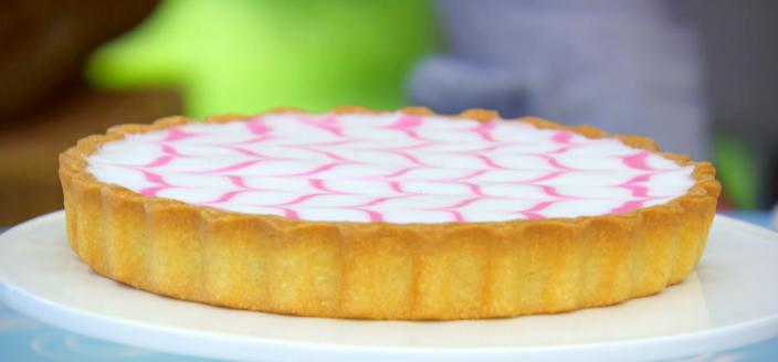 Mary Berry's Bakewell Tart from Pastry Week on The Great British Baking Show on PBS. (Image © 2016, Love Productions for the BBC)