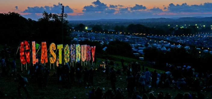 GlGlastonbury in lights in 2011 (Photo:By Flickr user jaswooduk, used under Creative Commons via Wikimedia Commons)