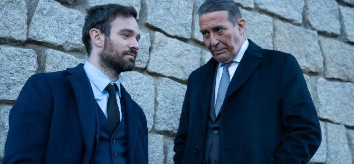 """Charlie Cox and Cirian Hinds in """"Kin"""" (Photo: AMC Networks"""