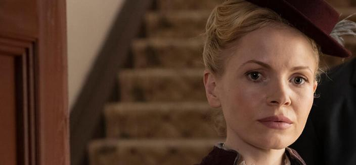 Kate Phillips as Miss Eliza Scarlet in Miss Scarlet and The Duke