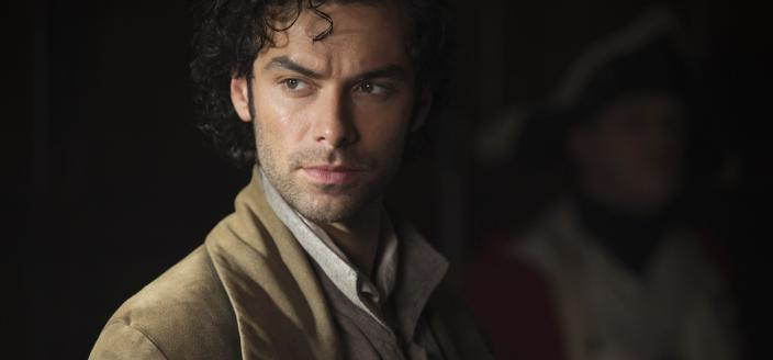 Aidan Turner, doing his best smoldering, as Ross Poldark. (Photo: Courtesy of Adrian Rogers/Mammoth Screen for MASTERPIECE.)