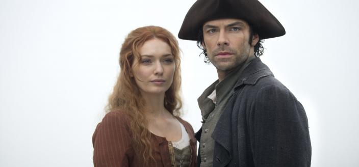 """Ross and Demelza in """"Poldark"""" Season 2 (Photo:  Courtesy of Adrian Rogers/Mammoth Screen for BBC and MASTERPIECE)"""