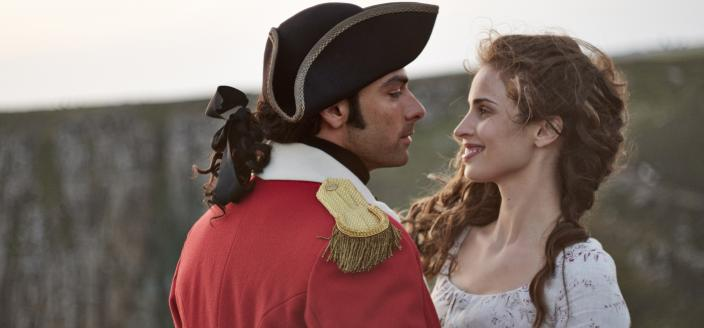 Look how pretty Ross and Elizabeth are. (Photo: Robert Viglasky/Mammoth Screen for MASTERPIECE.)