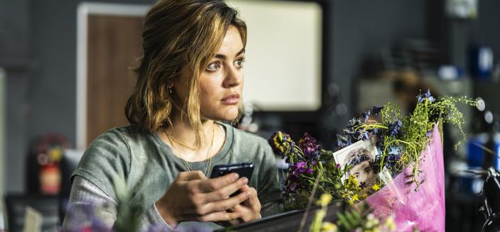 """Lucy Hale in """"Ragdoll"""" (Photo: AMC Networks)"""