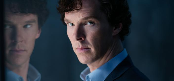 Benedict Cumberbatch is all brooding in this shot. (Photo:  Courtesy of Laurence Cendrowicz/Hartswood Films & MASTERPIECE)