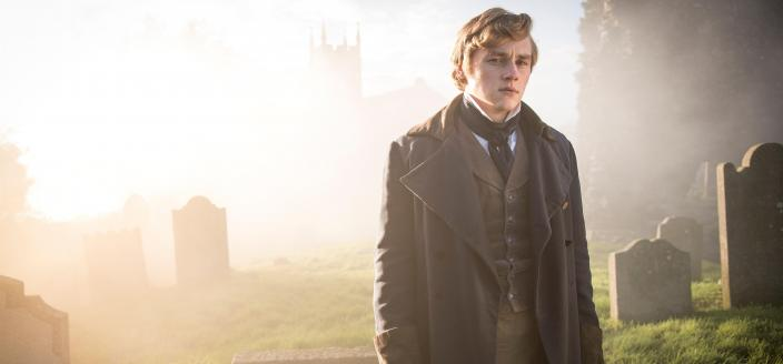 Ben Hardy as Walter Hartright (Photo Credit: Courtesy of The Woman in White Productions Ltd. / Steffan Hill / Origin Pictures)