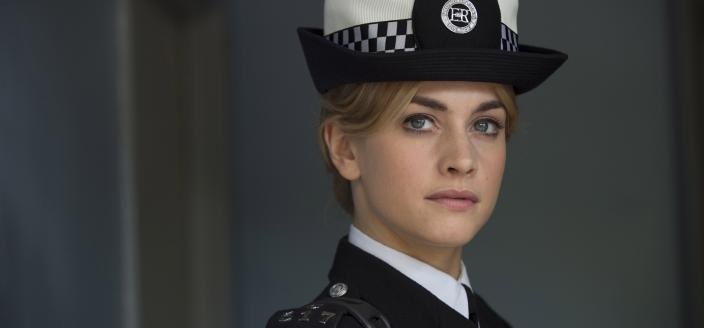 Stefanie Martini as the young Jane Tennison (Photo:  Courtesy of ITV Studios and NoHo Film & Television for ITV and MASTERPIECE)