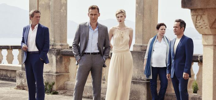 "The cast of ""The Night Manager"", airing on AMC. (Photo: Mitch Jenkins/The Ink Factory/AMC)"