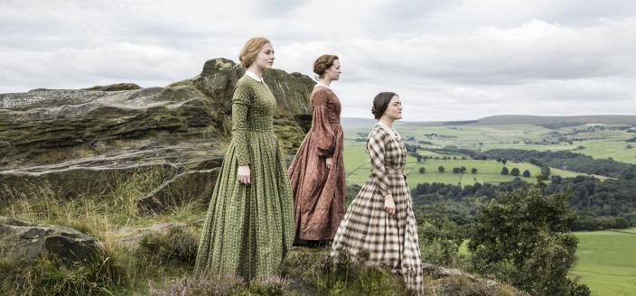 Three iconic sisters in a pretty iconic-looking promo shot. (Photo: Courtesy of Gary Moyes/BBC and MASTERPIECE)