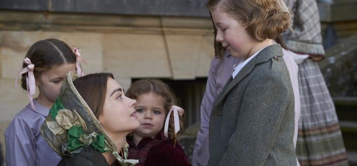 The queen and young Bertie in a sweet moment (Photo: Courtesy of Justin Slee/ITV Plc for MASTERPIECE)