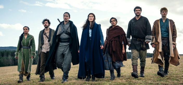 The main cast of The Wheel of Time