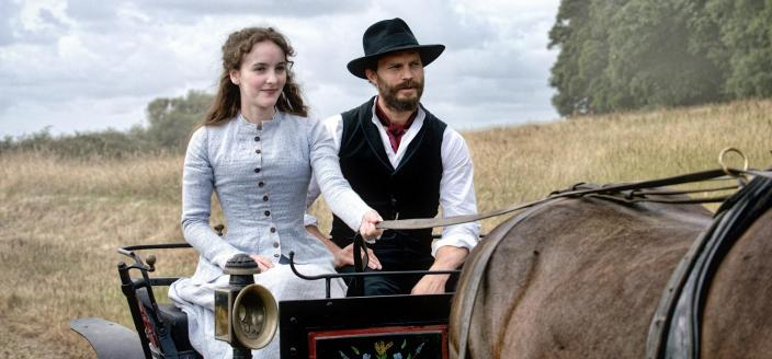 "Ann Skelly and Jamie Dornan in ""Death and Nightingales"" (Photo: Red Arrow)"
