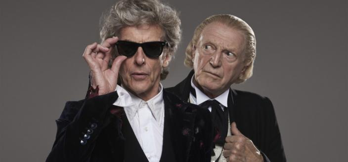 """Peter Capaldi and David Bradley as """"Doctor Who's"""" Twelfth and First Doctors. (Photo: BBC)"""