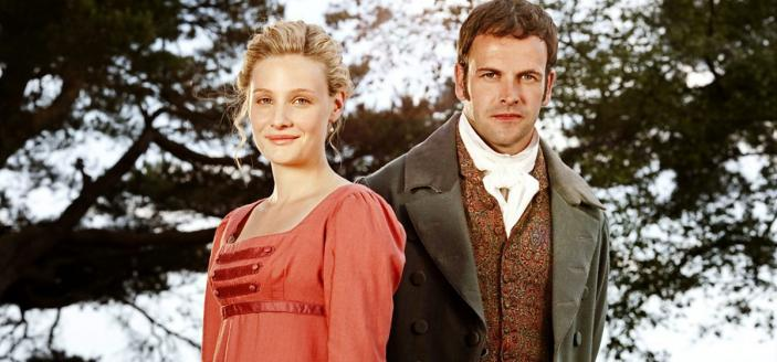 "Romola Garai and Jonny Lee Miller in ""Emma"" (Photo: BBC)"