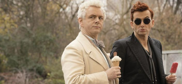 "Michael Sheen and David Tennant in ""Good Omens"" (Photo: Amazon Prime Video)"