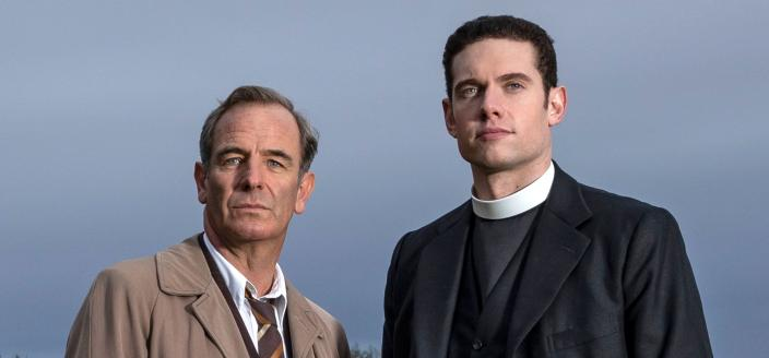 Robson Green and Tom Brittney as Rev. Will Davenport and DI Geordie Keating in 'Grantchester'