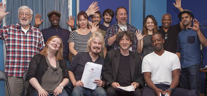 The cast and production team of How The Marquis Got His Coat Back (Photo: BBC Radio 4/BBC)