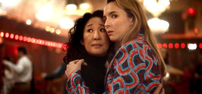 "Sandra Oh and Jodie Comer in ""Killing Eve"" (Photo: BBC America)"