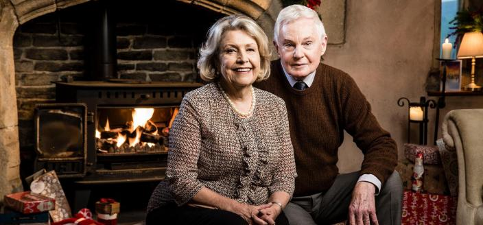 "Derek Jacobi and Anne Reid in the ""Last Tango"" Holiday Special (Photo: Courtesy of BBC/Red Productions/Gary Moyes)"