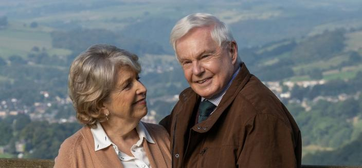 "Anne Reid and Derek Jacobi in ""Last Tango in Halfax"" Season 5 (Photo: Courtesy of BBC/Red Productions/Gary Moyes)"
