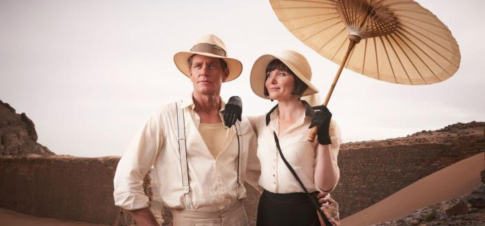 """Essie Davis and Nathan Page in """"MIss Fisher and the Crypt of Tears"""" (Photo Credit: Every Cloud Productions/Ben King)"""