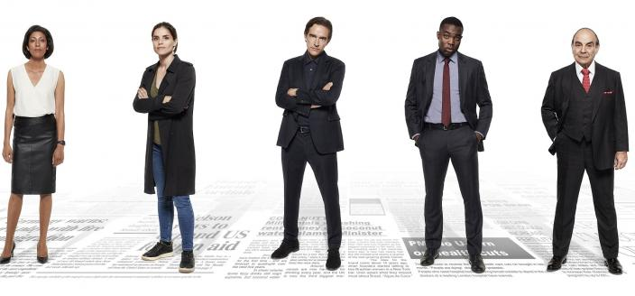 """The cast of """"Press"""" (Photo: Courtesy of Lookout Point - Photographer: Dean Chalkley/Colin Hutton)"""