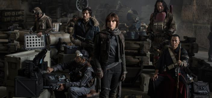 """The cast of Gareth Edwards' """"Star Wars"""" prequel """"Rogue One"""" (Photo: Lucasfilm)"""