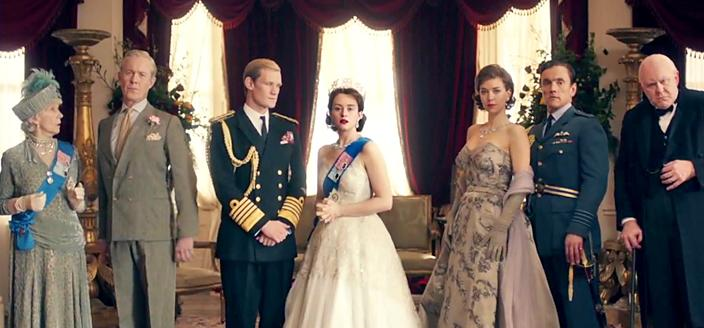 The glorious-looking cast of 'The Crown'. (Photo: Netflix)