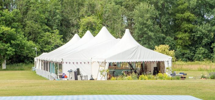The Great British Baking Show's famous tent