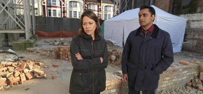 "Nicola Walker and Sanjeev Bhaskar  in ""Unforgotten"" Season 1 (Photo: John Rogers/Mainstreet Pictures)"