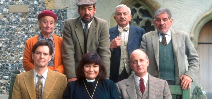 "The cast of ""The Vicar of Dibley"". (Photo: Courtesy of BBC and Tiger Aspect Productions)"