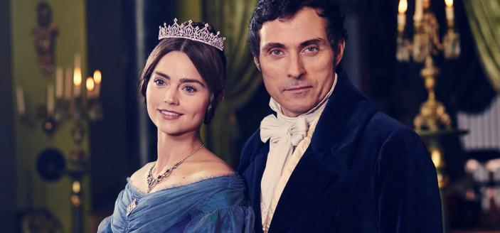 "Jenna Coleman and Rufus Sewell in ""Victoria"" (Photo:  Courtesy of ITV Plc/MASTERPIECE)"