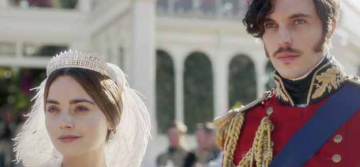 Jenna Coleman and Tom Hughes as Victoria and Albert in Victoria Season 3