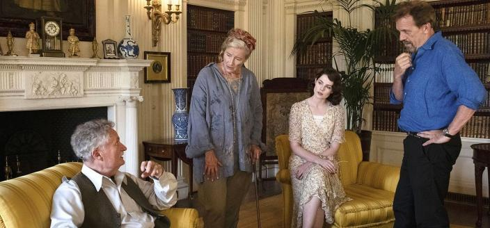 Lucy Boynton as Frankie Derwent, Hugh Laurie as Dr James Nicholson, Jim Broadbent as Lord Marcham, and Emma Thompson as Lady Marcham