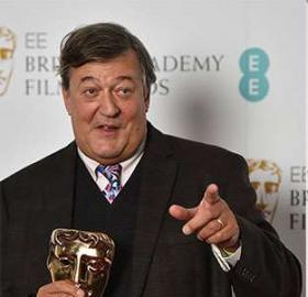 Stephen Fry's comments about Jenny Beavan caused BAFTA controversy. (Photo: British Academy Film Awards)
