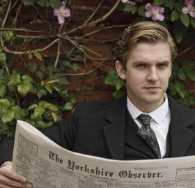 """Dan Stevens as Matthew Crawley in """"Downton Abbey"""". His superhero outfit will probably look way different. (Photo: ITV)"""