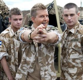 "The cast of ""Gary: Tank Commander"" (Photo: BBC)"